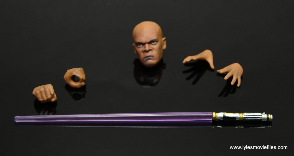 SH Figuarts Mace Windu figure review - accessories