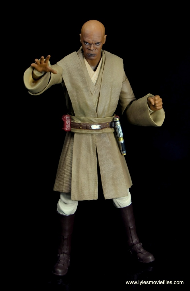 SH Figuarts Mace Windu figure review - force pushing