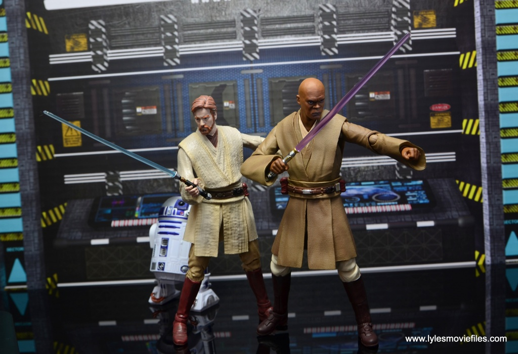 SH Figuarts Mace Windu figure review - ready for battle with Obi-Wan Kenobi final