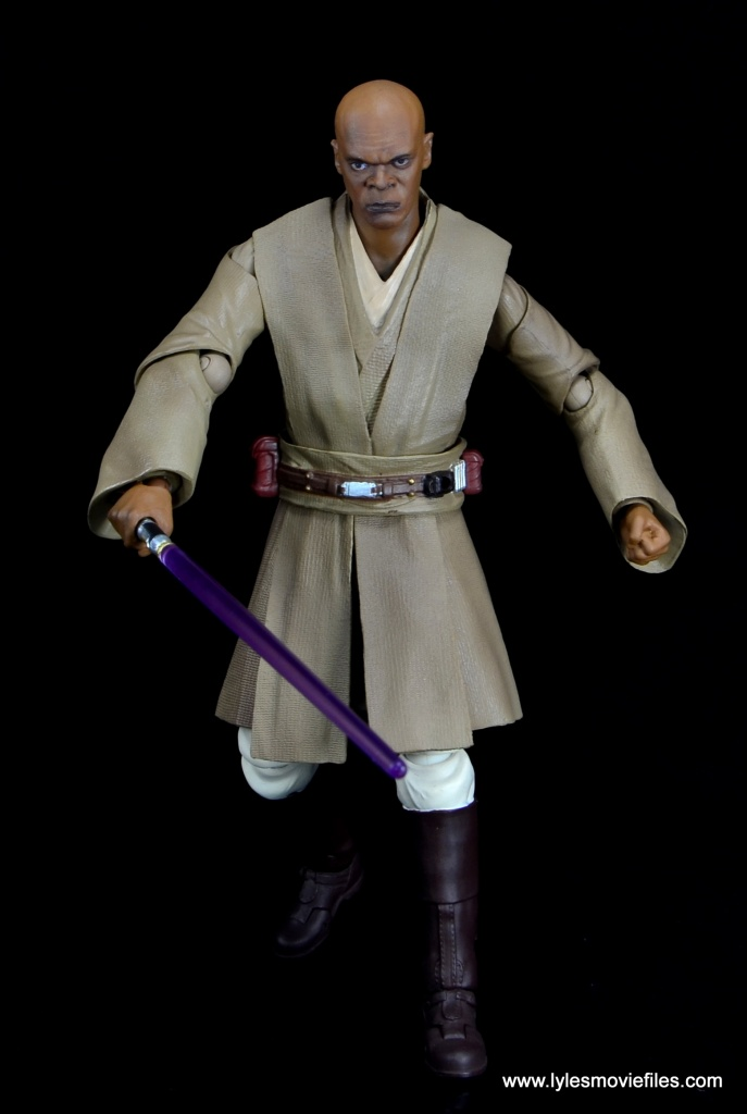 SH Figuarts Mace Windu figure review - walking forward