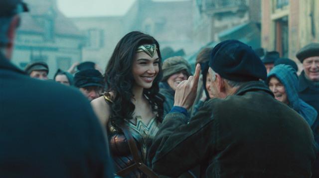 Wonder-Woman-movie-Diana-smiling-at-villagers
