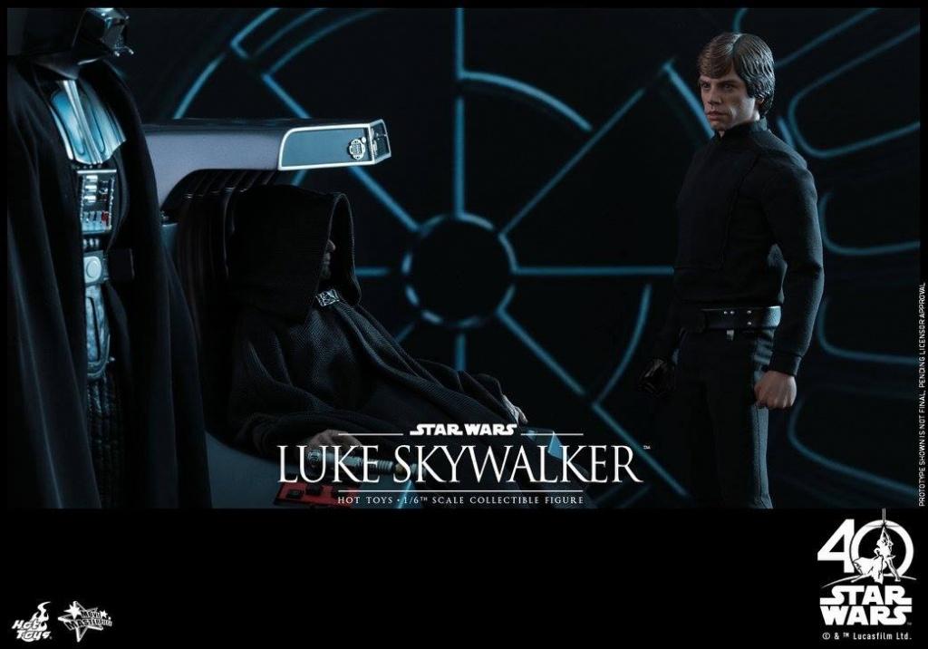 Hot Toys Jedi Luke Skywalker figure -with Vader and Emperor