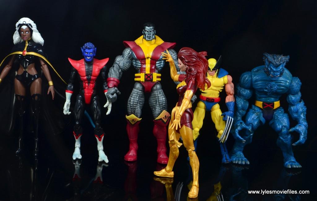 Marvel Legends Cyclops and Dark Phoenix figure review -Dark Phoenix has X-Men captive