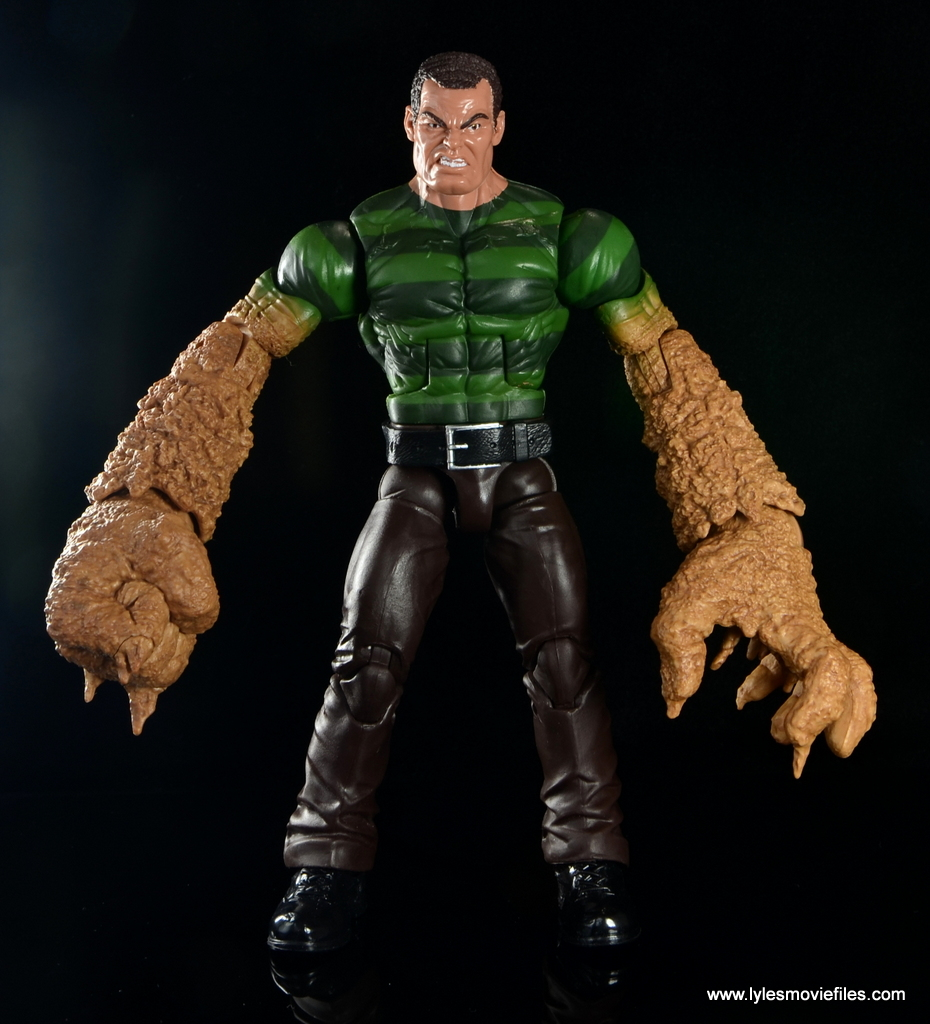 marvel legends sandman figure review baf sandman wave