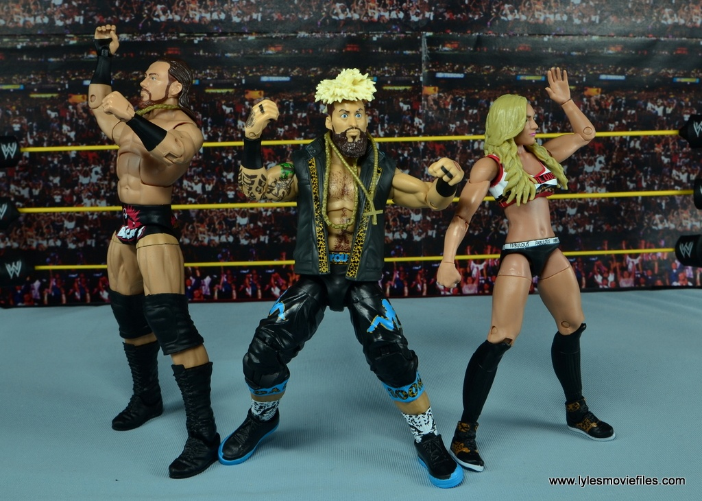 WWE Carmella figure review - getting hyped with Big Cass and Enzo