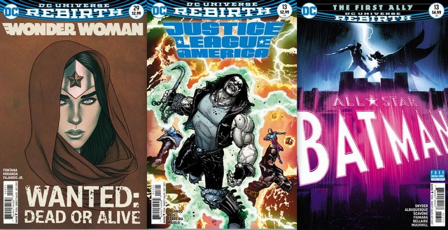 DC Comics covers for the week of 8/30/17