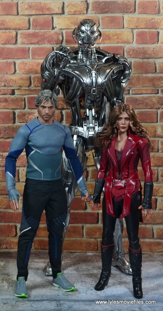 Hot Toys Avengers Ultron Prime figure review -with Quicksilver and Scarlet Witch