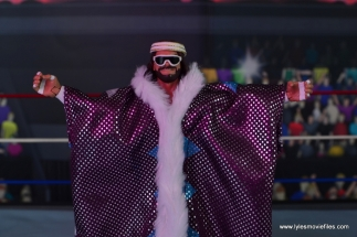 WWE Defining Moments Macho Man Randy Savage figure review -close up