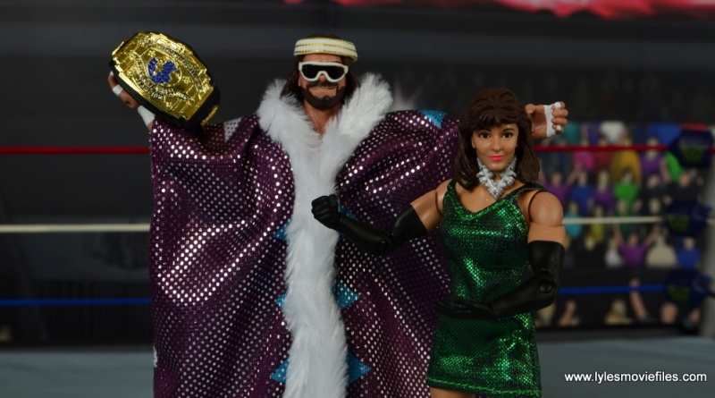 WWE Defining Moments Macho Man Randy Savage figure review -main pic with Miss Elizabeth