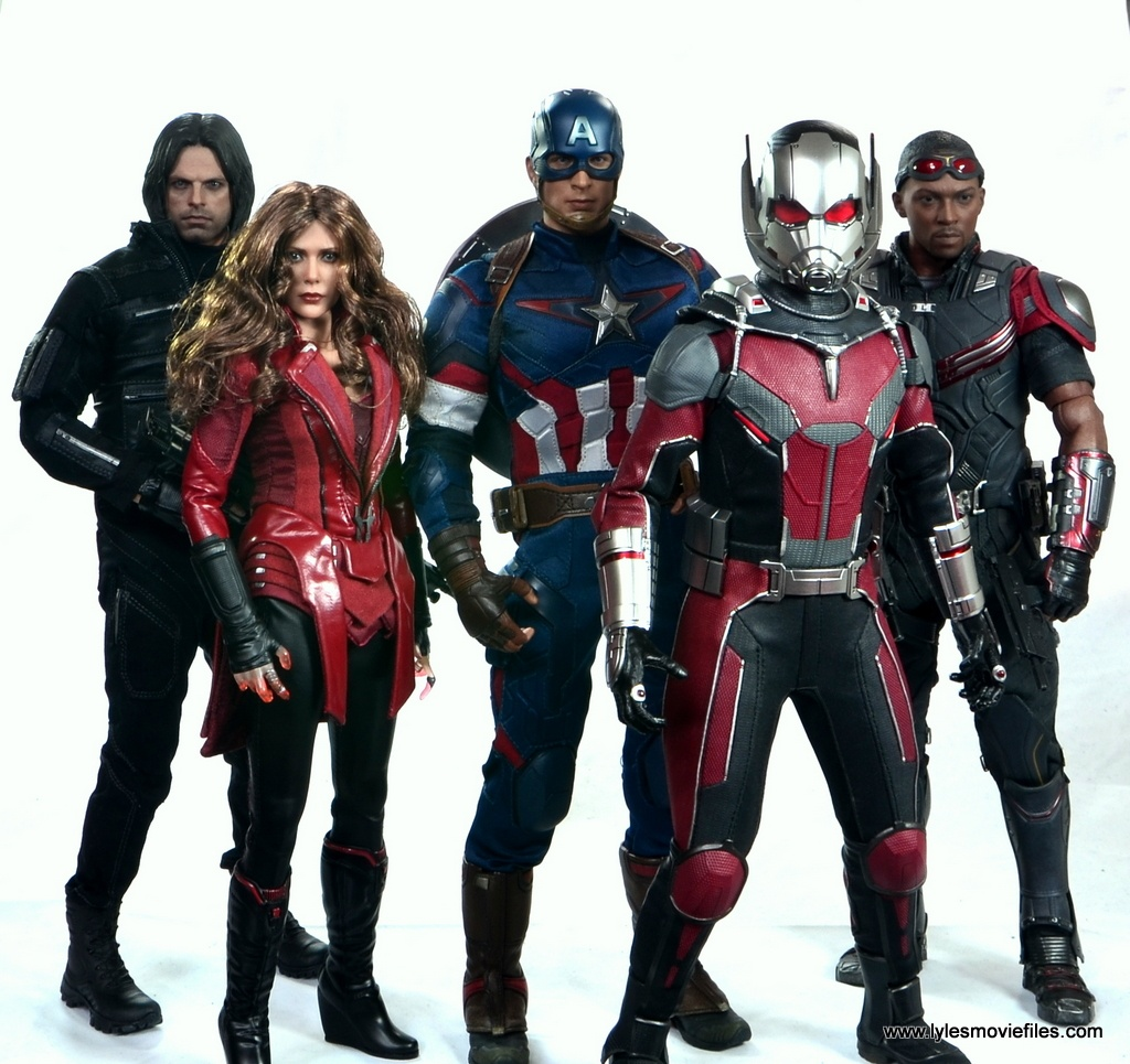 hot toys captain america civil war ant-man figure review -team cap