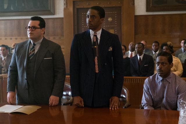 Marshall-movie-review-Josh-Gad-Chadwick-Boseman-and-Sterling-K.-Brown