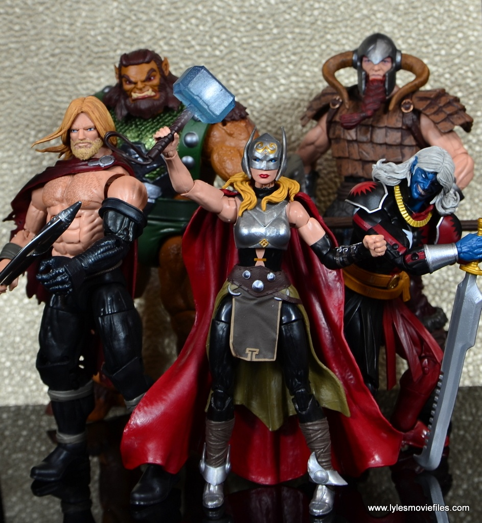 SDCC 2017 Marvel Legends Battle for Asgard figure review - Odinson, Ulik, Thor, Bor and Malekith