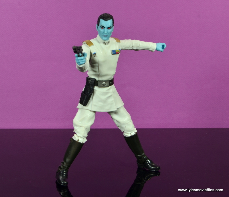 Star Wars The Black Series Grand Admiral Thrawn figure review -aiming
