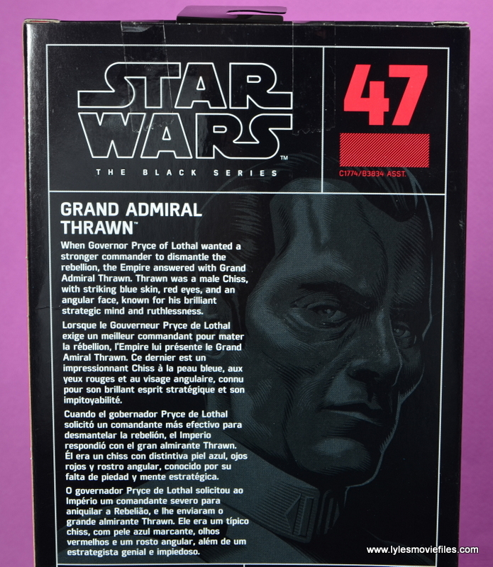 Star Wars The Black Series Grand Admiral Thrawn figure review - bio
