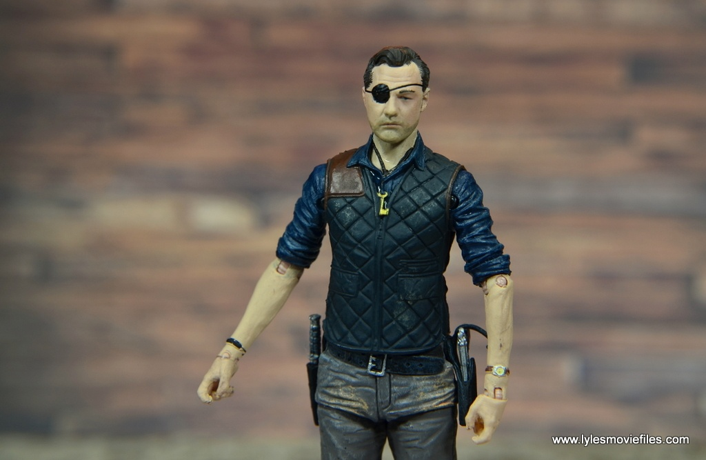 The Walking Dead The Governor TV Series figure review -eye patch head wide
