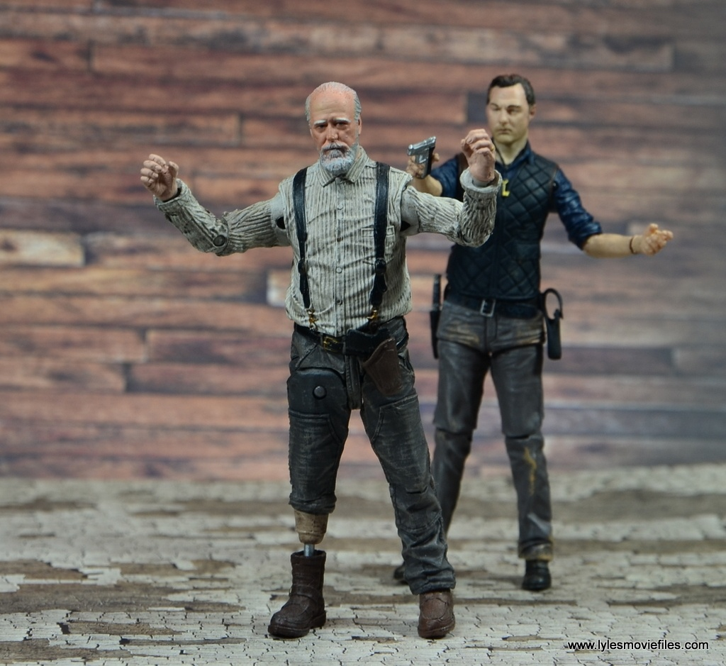 The Walking Dead The Governor TV Series figure review -threatening Herschel