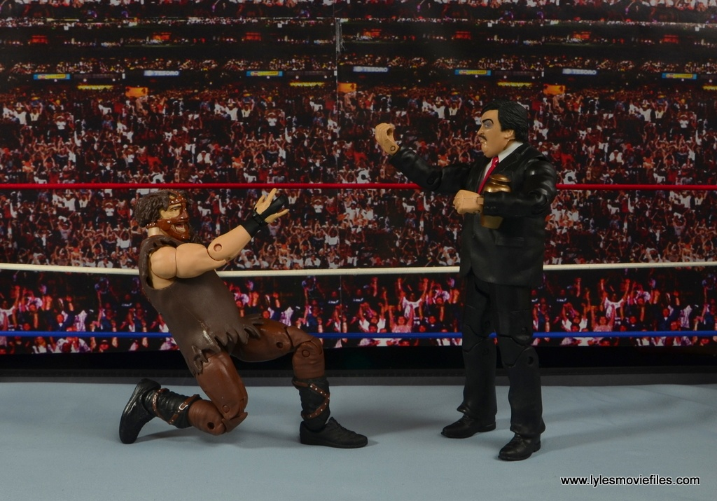 WWE Paul Bearer figure review - celebrating with Mankind