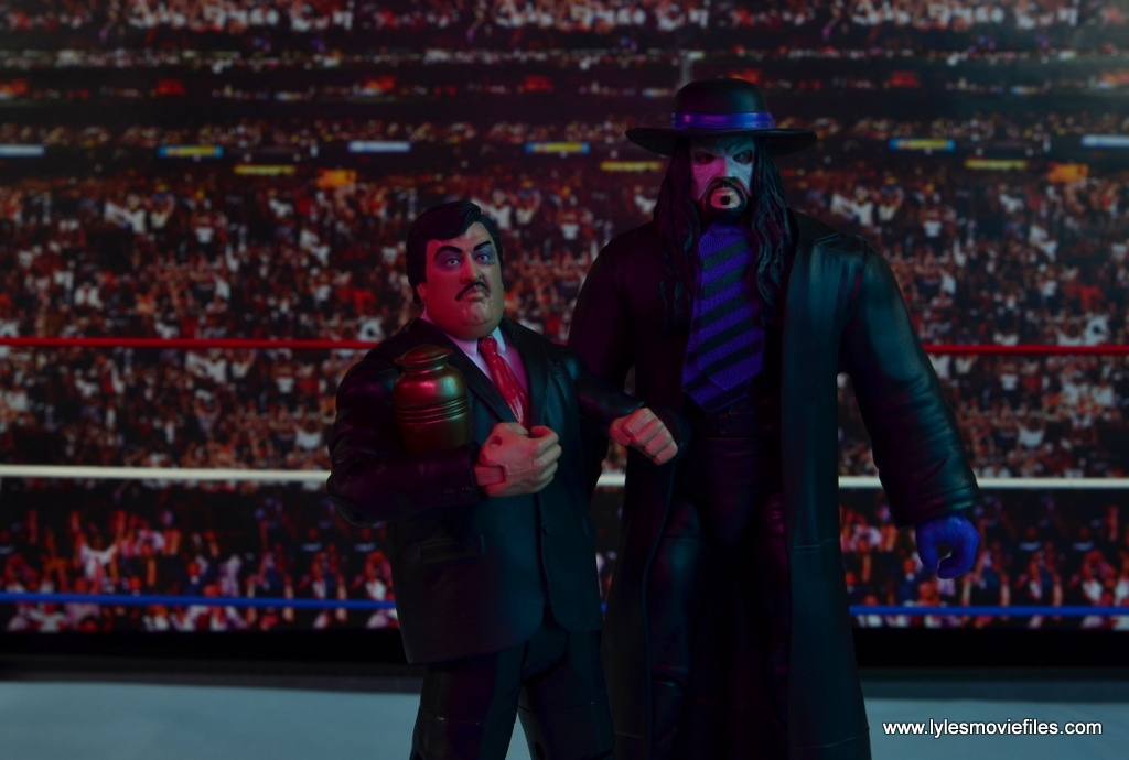 WWE Paul Bearer figure review -hanging with The Undertaker