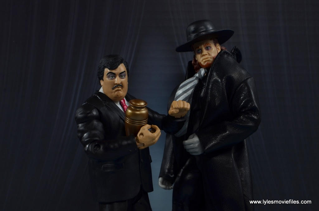 WWE Paul Bearer figure review -promo with The Undertaker