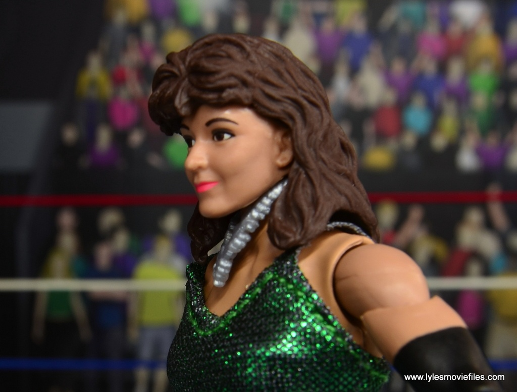 WWE Then Now Forever Miss Elizabeth figure review -hair close up