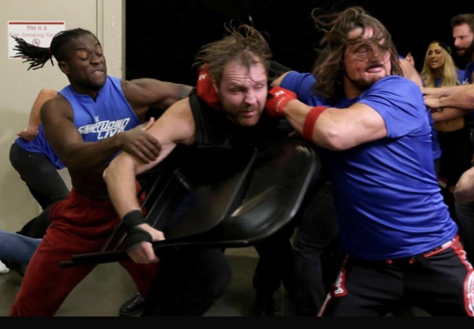 Under Siege - Kofi and AJ jump Ambrose