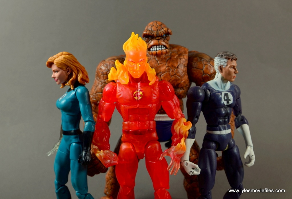 Marvel Legends The Human Torch figure review - The Fantastic Four
