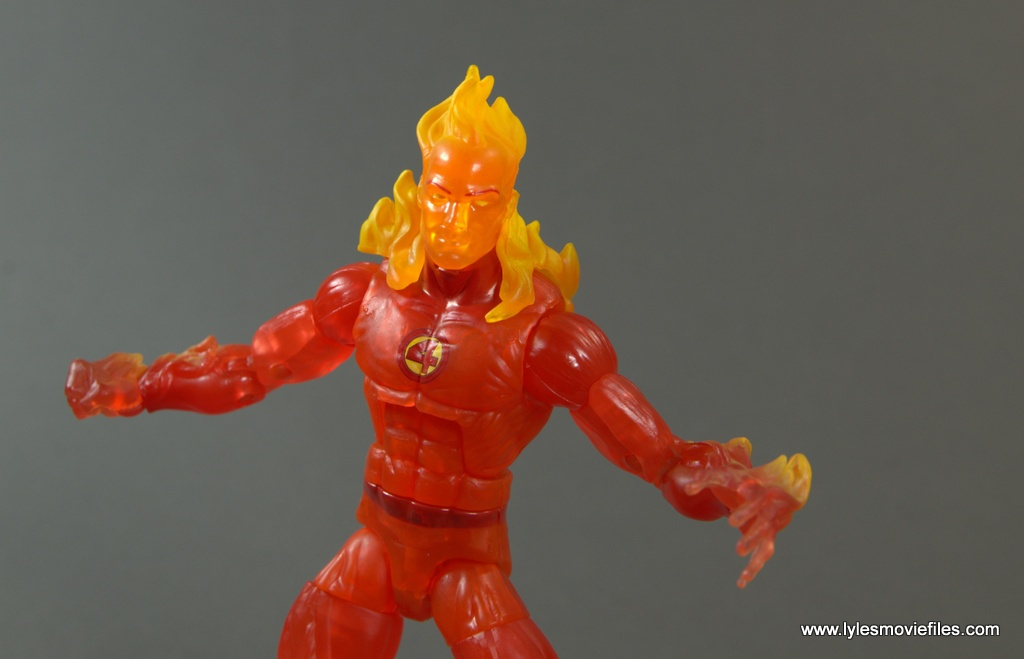 Marvel Legends The Human Torch figure review -wide pose