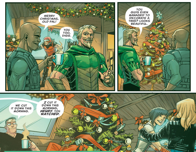 Green Arrow Annual #1 interior art