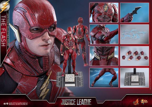 Hot Toys Justice League The Flash figure - collage