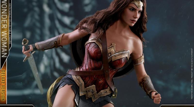 Hot Toys Justice League Wonder Woman figure -charging into battle