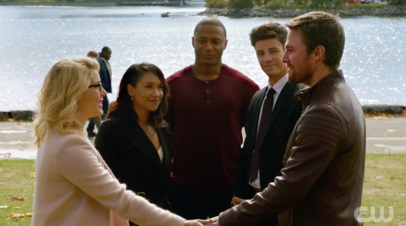 Arrowverse couples Iris and Barry and Felicity and Oliver