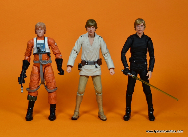 SH Figuarts Luke Skywalker figure review -scale with Hasbro X-Wing Luke and Figuarts Jedi Luke
