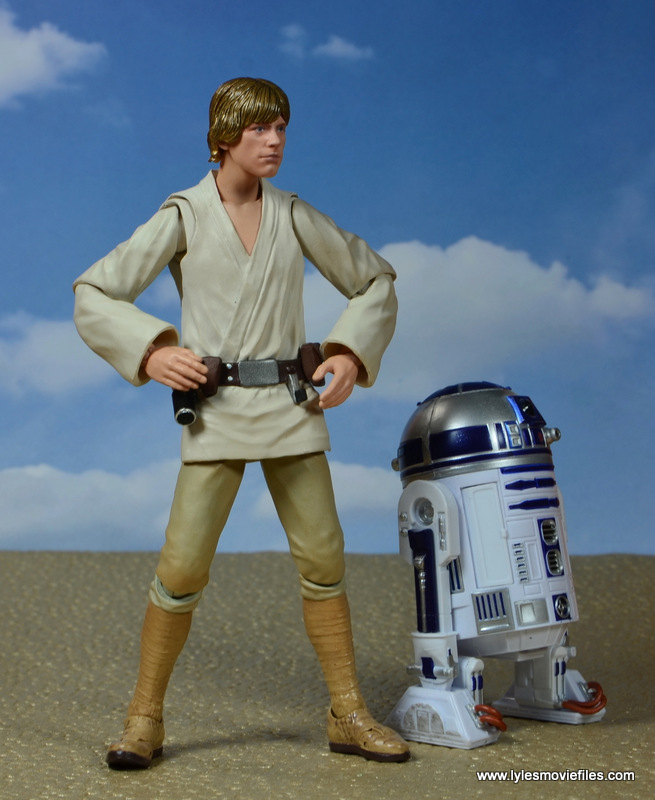SH Figuarts Luke Skywalker figure review -with R2D2