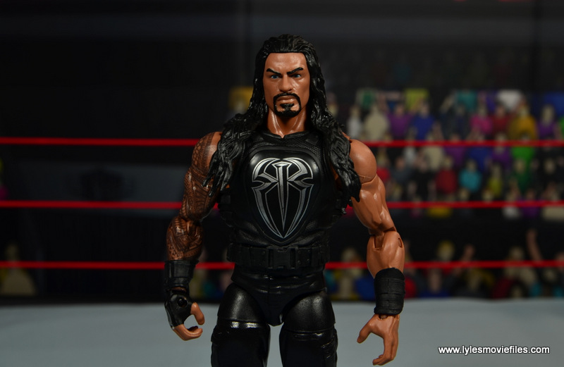 WWE Elite 45 Roman Reigns figure review - wide