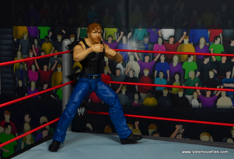 wwe network spotlight dean ambrose figure review -ready to fight in the corner