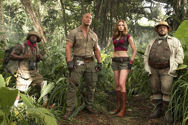 jumanji welcome to the jungle - kevin hart, dwayne johnson, karen gillan, jack black