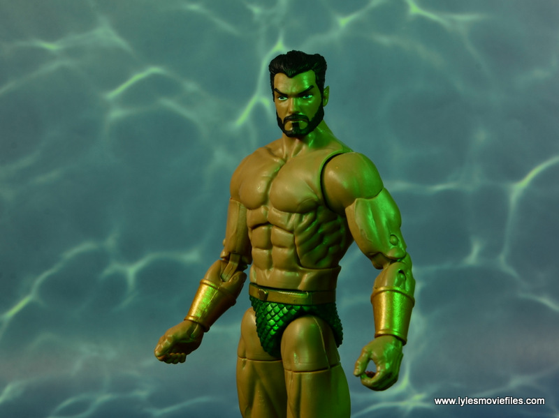 marvel legends sub-mariner figure review -bearded head