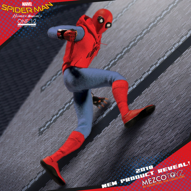 toy fair 2018 mezco one 12 spider-man homecoming homemade suit