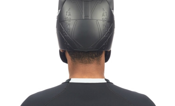 Marvel Legends Black Panther helmet Rear