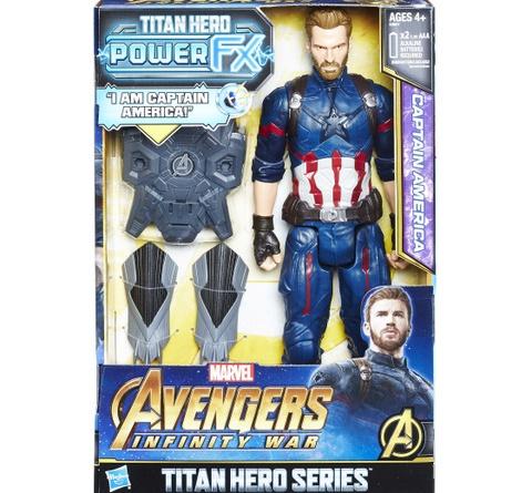 MARVEL AVENGERS INFINITY WAR TITAN HERO 12-INCH POWER FX Figures (Captain America) - in pkg