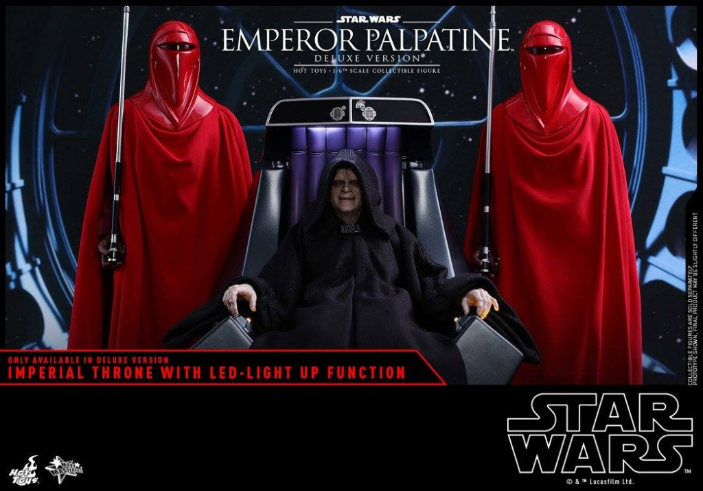 hot toys emperor palpatine figure -sitting with royal guards