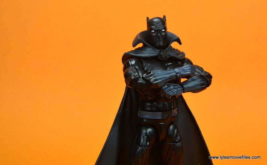 marvel legends black panther figure review - arms crossed