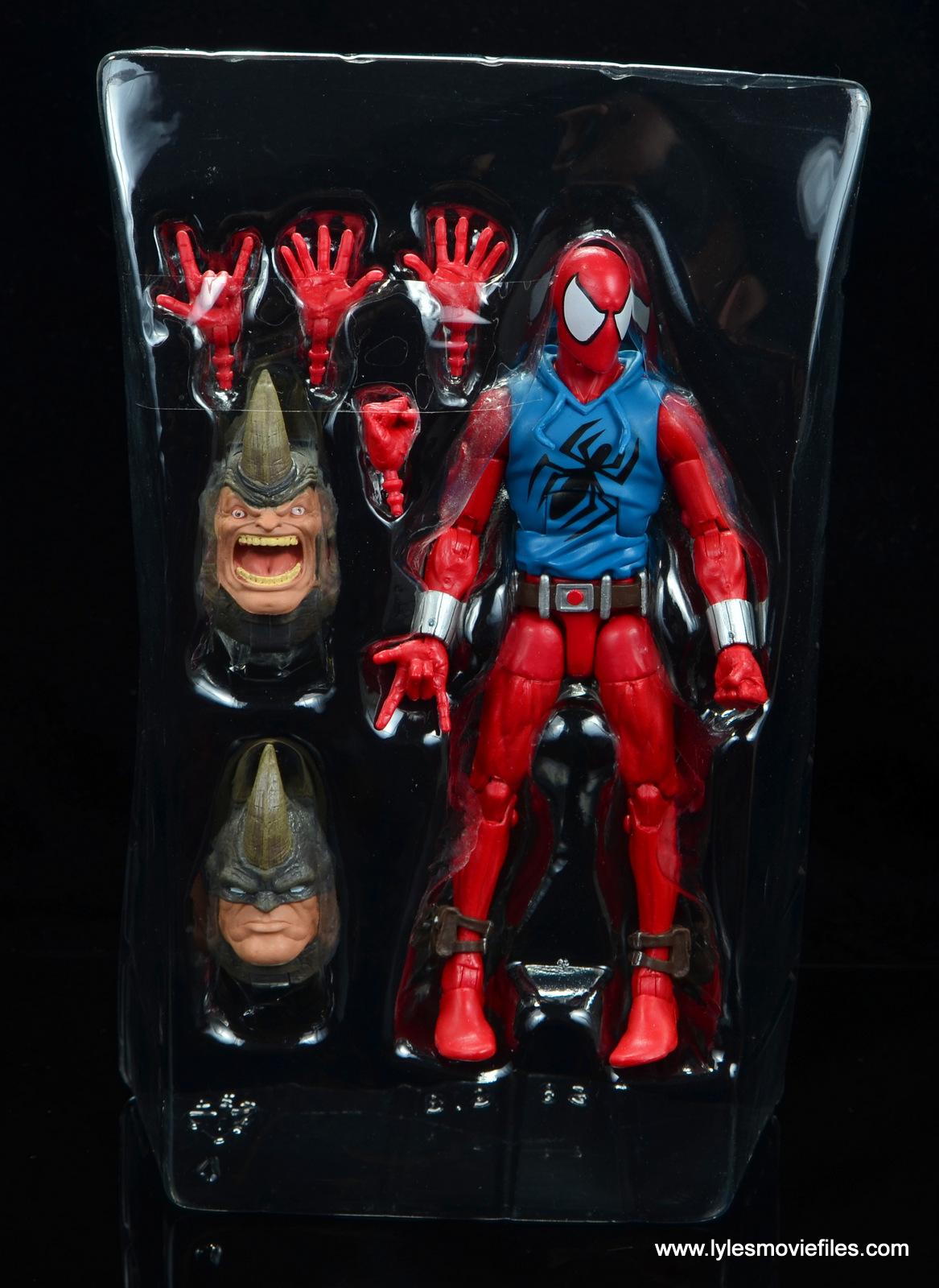 Marvel Legends Scarlet Spider-Man figure review BAF Rhino wave
