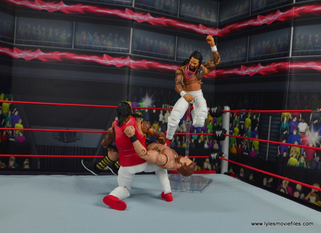 wwe elite 54 the usos jimmy and jey usos figure review - uso decapitation