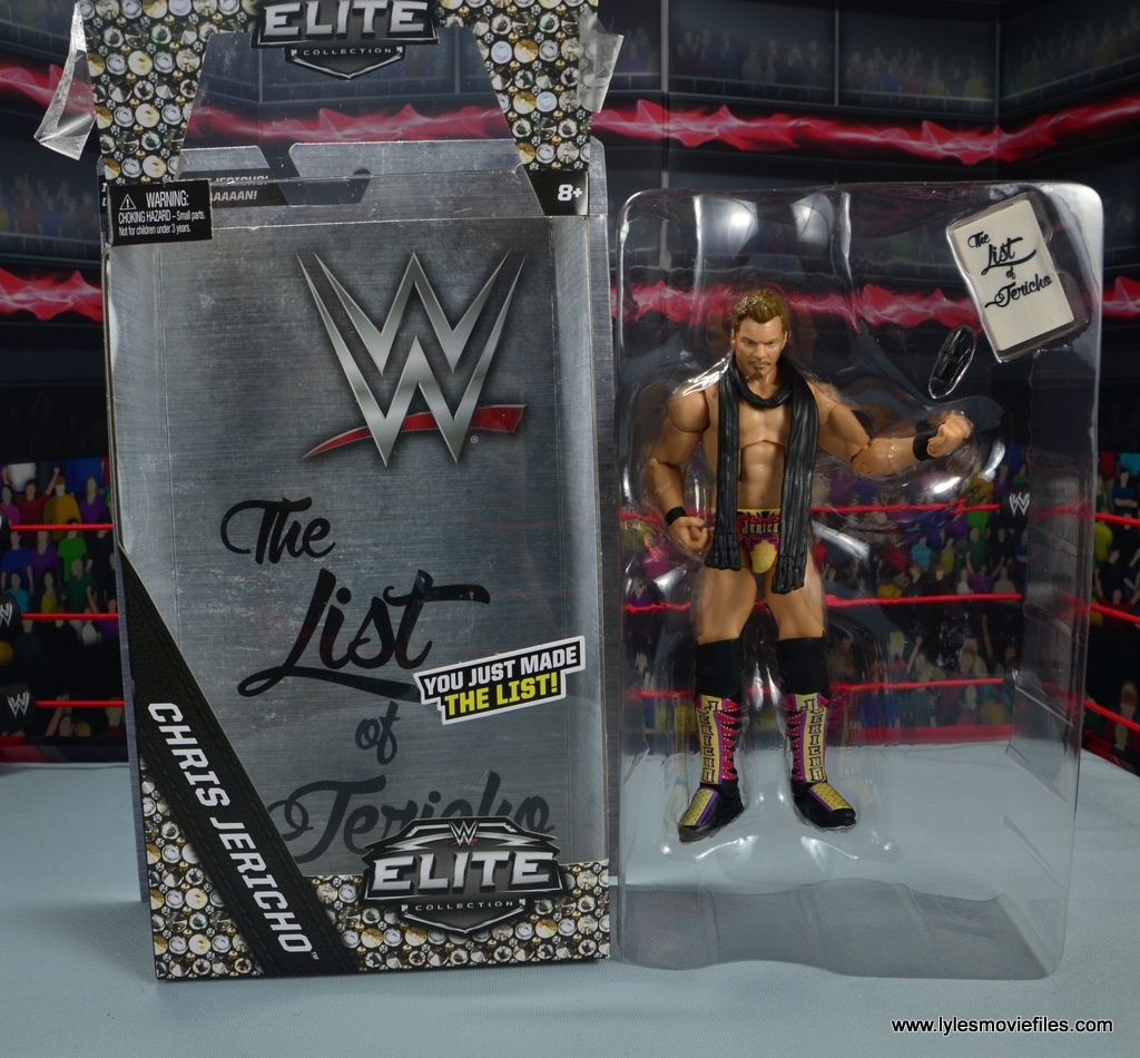 wwe elite chris jericho the list exclusive figue review -accessories in tray