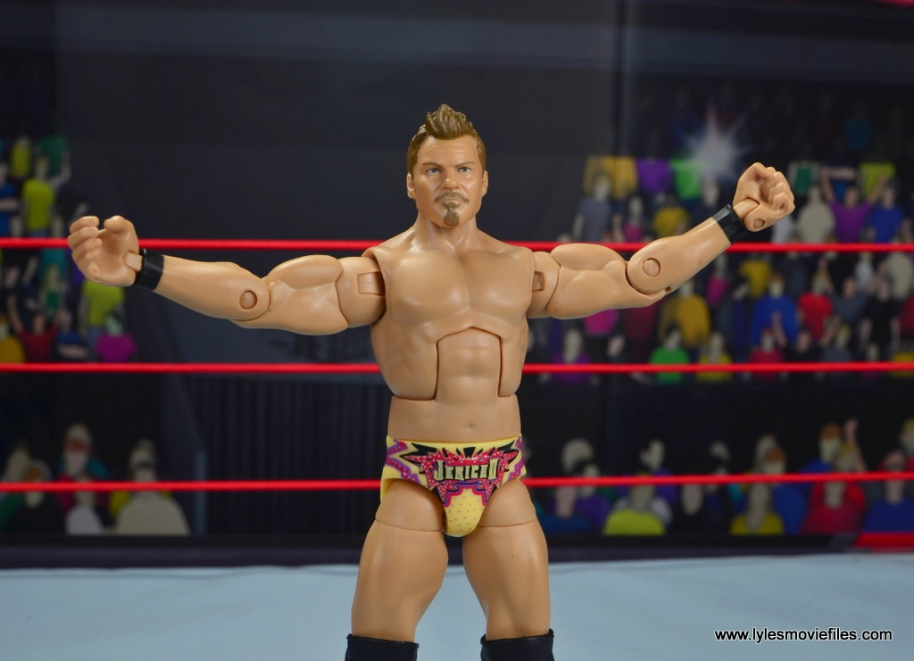 wwe elite chris jericho the list exclusive figue review -arms out