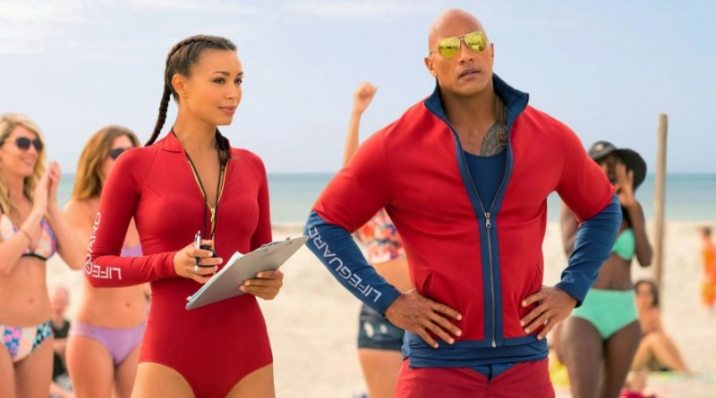baywatch Ilfenesh Hadera and dwayne the rock johnson