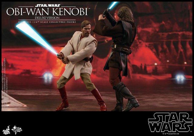 Hot Toys Revenge Of The Sith Obi Wan Kenobi Figure Fighting Anakin Lyles Movie Files