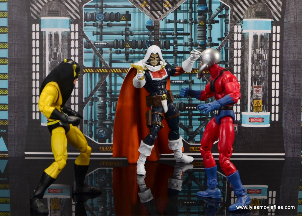 marvel legends taskmaster figure review - face off with yellowjacket and ant-man