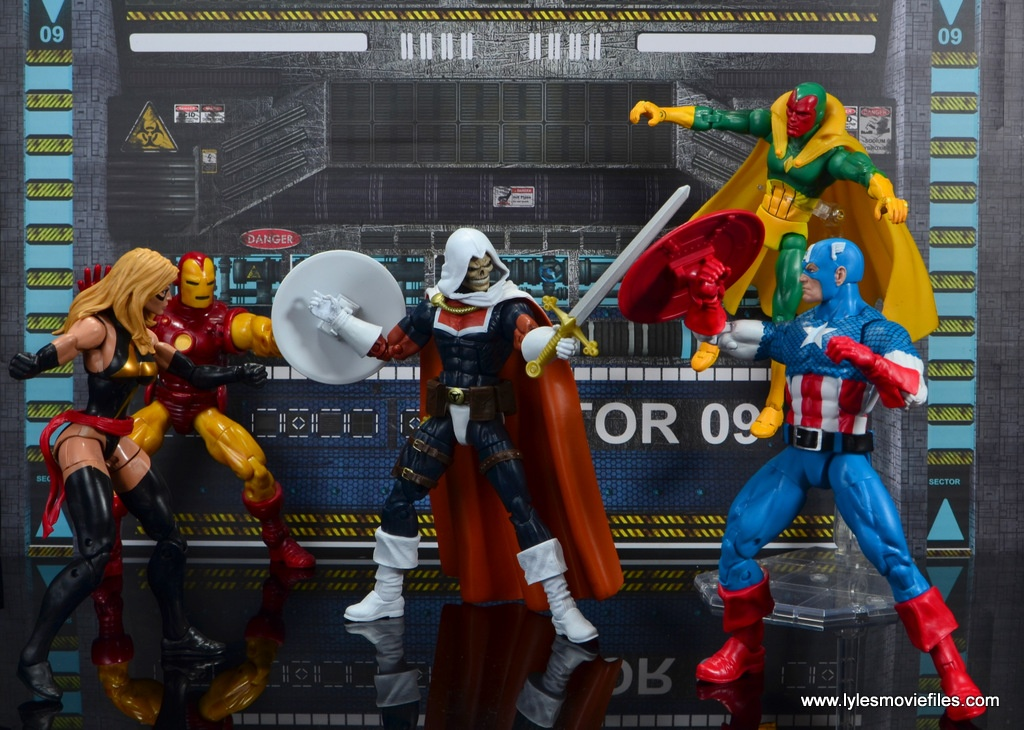 marvel legends taskmaster figure review - taskmaster vs the avengers